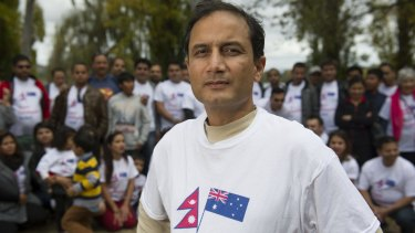 Nepal Earthquake Relief Coordination Canberra coordinator Binod Nepal gathers with the ACT's Nepalese community.