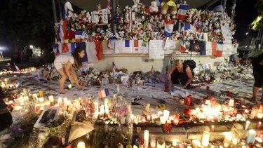 A makeshift memorial in Nice, after an attack there killed 86 people and injured 434.