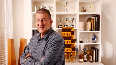 Jeff Kennett in his office after being announced as the Hawthorn President for a second time.