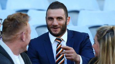 Robbie Farah of the Tigers is pictured before the round 20 NRL match.