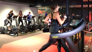 The system works on a variety of machines, including treadmills and bikes.