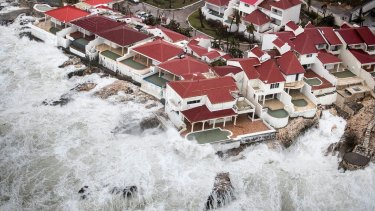 Homes that remained intact in the aftermath of Hurricane Irma, in St Maarten.