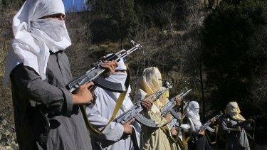 Pakistani Taliban militants in South Waziristan region along the Afghan border.