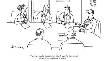 Almost 30 years ago, Punch cartoonist Riana Duncan captured the sexist atmosphere of the committee or the boardroom.