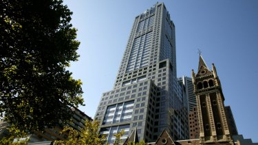 Falling apart at the seams: 120 Collins Street in Melbourne.