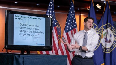 Bill author: House Speaker Paul Ryan makes his case for the GOP's plan to replace the Affordable Care Act on Friday.