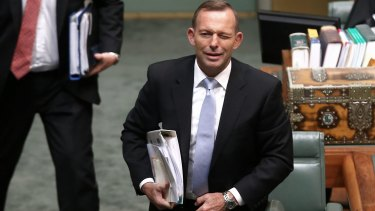 A wink from former prime minister Tony Abbott.