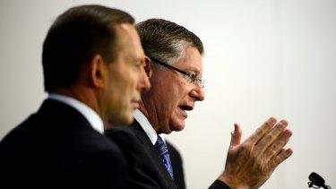 Prime Minister Tony Abbott and the Victorian Premier Denis Napthine.