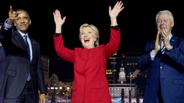 Hillary Clinton called on voters to reject the politics of division.