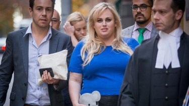 Actress Rebel Wilson leaving the Supreme Court on May 24, 2017 in Melbourne.