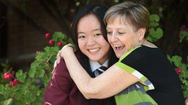 Mai Duong, Braybrook College dux, with assistant principal Arlene Bailey.