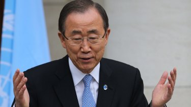 UN Secretary General Ban Ki-moon says Paris must mark the floor, not the ceiling of our ambition.