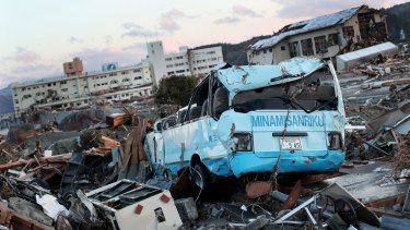 Natural disaster: An earthquake, followed by a tsunami, caused widespread devastation in Japan in March 2011. The development of a satellite to be used after a similar event is being considered by the Japanese government.