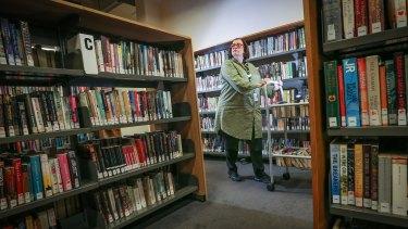 Librarian Debbie Faifer in City Library last week.