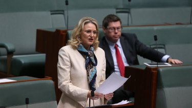 Melissa Parke delivers her valedictory speech at Parliament House.
