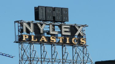 On again, off again: The Nylex clock on Thursday.