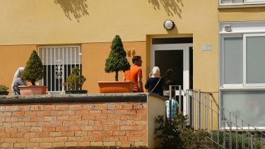 The entrance of the Oukabir home in Ripoll, north of Barcelona, where two of the suspects reportedly live.