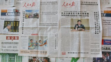 Don't mention the collapse: the <i>People's Daily</i> avoids mention of stockmarket falls in its Tuesday and Wednesday editions, even as other newspapers cover the situation.