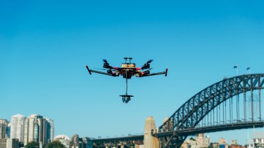 Telstra's drone, equipped with six cameras, will fly at 300 metres to capture 360-degree footage of Sydney's fireworks.