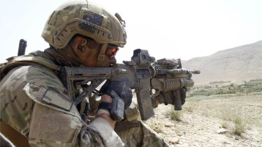 An Australian soldier pictured in the Uruzgan province in 2012.