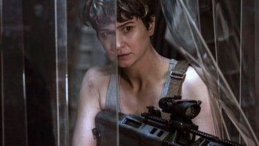 Katherine Waterston (Daniels) in a scene from <i>Alien: Covenant</i>.