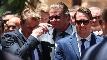 Cole Miller's father and brothers pay tribute at his funeral.