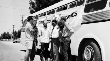 The Aboriginal Freedom Freedom Riders in Casino, New South Wales on 17 February 1965.