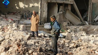 Syrian activists say dozens were killed in the airstrike on the market town in the north of Syria.