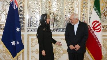 Ms Bishop meeting with Dr Mohammad Javad Zarif in Tehran in 2015.