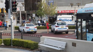 There was a heavy police presence after the shooting with the offender still at large.