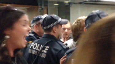 Students protesting proposed education reforms did not respond violently, according to the protest organiser.
