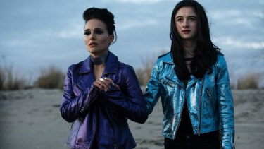 Natalie Portman (left) and Raffey Cassidy in Vox Lux, a film in which the mystery of where the plot could possibly be headed persists till the last moment.