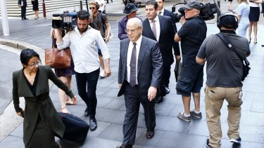 Eddie Obeid leaves the Supreme Court after his sentencing submissions earlier this year.