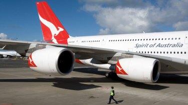 Feels like home: A Qantas A380 super-jumbo.