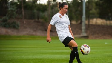 Canberra United's Lisa De Vanna. Photo Elesa Kurtz