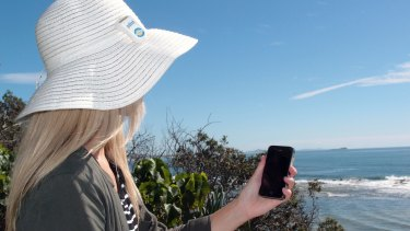 Queensland University of Technology researchers are looking at new ways to prevent sunburn. Pictured is research assistant Linda Finch.