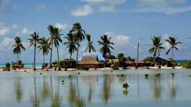 Rising sea levels are a significant threat to low-lying countries such as Kiribati.