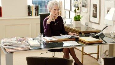 Meryl Streep as ruthless Miranda Priestly in <i>The Devil Wears Prada</i>.