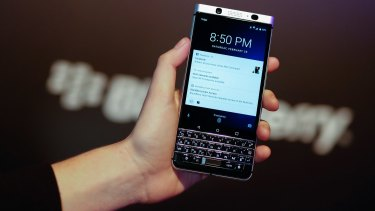 The Blackberry KEYone, on show at Mobile World Congress this week in Barcelona, offers a physical keyboard and tight security.