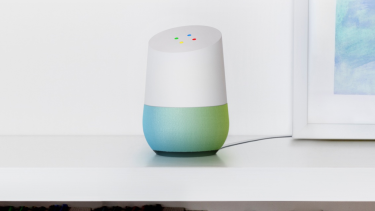 Google Home, a smart speaker that can control your home and manage other connected environments.