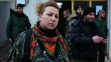 Atur Aisak, an Assyrian from Tel Tamer. Many of the first 90 Christians kidnapped from the village by IS were members of her extended family.