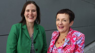 Small Business minister Kelly O'Dwyer with Kate Carnell, the new Small Business ombudsman.
