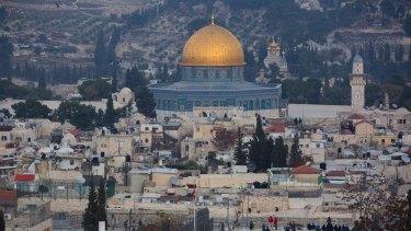 A view of Jerusalem's old city.
