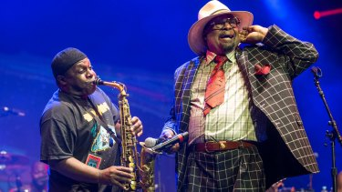 George Clinton and Parliament Funkadelic at the 2015 Bluesfest.