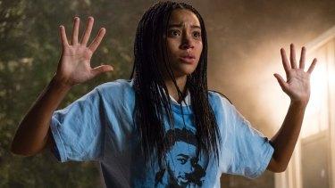 Amandla Stenberg as Starr Carter in The Hate U Give.