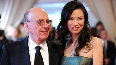 Rupert Murdoch and his former wife Wendi Deng.