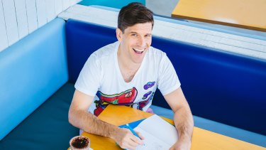 The Bachelor host Osher Gunsberg, ambassador for Yoobi.