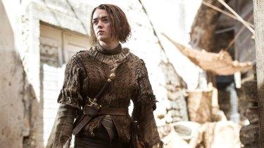Arya Stark (Maisie Williams) in <i>Game of Thrones</i>.