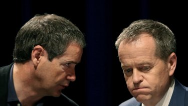 Senator Conroy and Labor leader Bill Shorten, pictured during the ALP national conference in Melbourne in July last year.