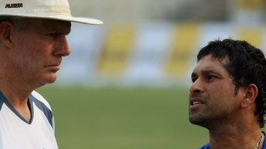 Greg Chappel and Sachin Tendulkar in 2006.